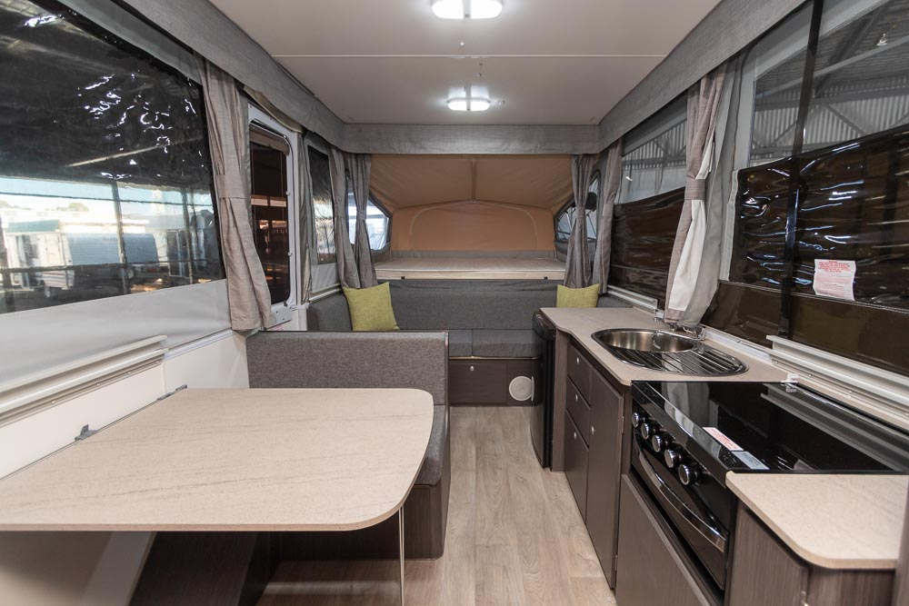 Jayco Eagle Camper Trailer - View to the front.
